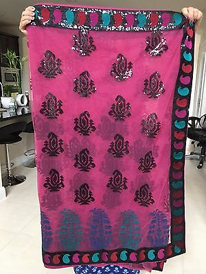 Fancy Party Wear Ethnic Pakistani Indian Designer Sari for Wedding~EXC!