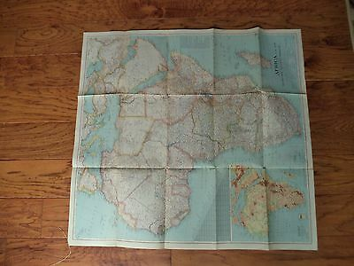 The National Geographic Society Map Of Africa - 1943 Vintage!