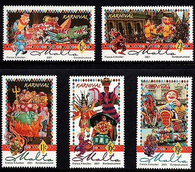 Malta 2001 Carnival Complete Set SG 1195 - 1199 Unmounted Mint