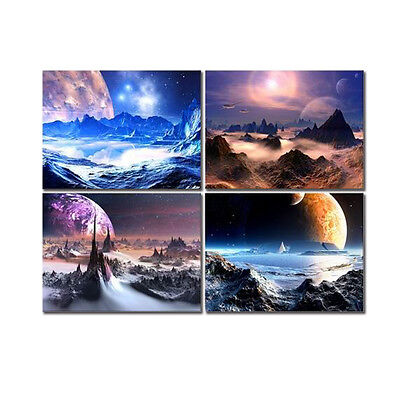 Framed Canvas Print Picture Painting Wall Art Home Decor Space Universe Abstract