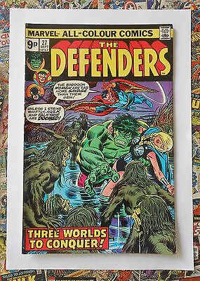 The Defenders #27 - Sept 1975 - Starhawk Cameo Appearance - Vfn- (7.5) Hot!!!!