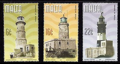 Malta 2001 Maltese Lighthouses Complete Set SG 1201 - 1203 Unmounted Mint