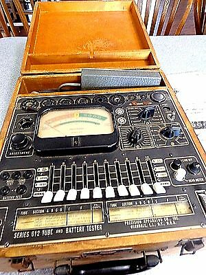 vintage Precision tube & Battery Tester, Series 612  Wooden Case