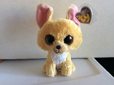 "Ty Beanie Boo NACHO the Chihuahua 6"" No Poem/No Birthday Tag- Mint"