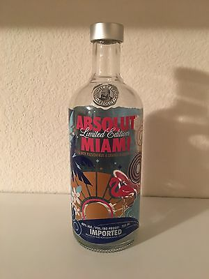 ABSOLUT MIAMI VODKA - LIMITED EDITION 750ml (Empty) BOTTLE