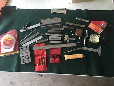 Large Lot of Vintage Machinist Tools Starrett Lufkin and More  Machinists