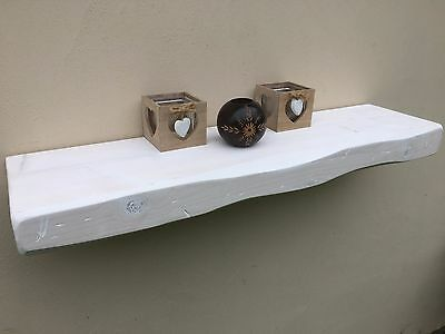 """RUSTIC Floating SHELF solid wood MANTLE CHUNKY 3"""" x 9"""" in ALL SIZES COLOURS"""