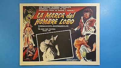 Rare Vintage Original THE MARK OF THE WEREWOLF(1968) Mexican Lobby Card
