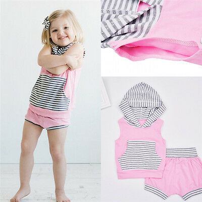 2PCS Child Kids Toddler Baby Girls Suit Shirt Tops Tee+Pants Outfits Set Clothes