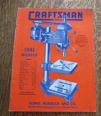 Sears CraftsmanPower Tools Catalog 1941 Excellent Condition