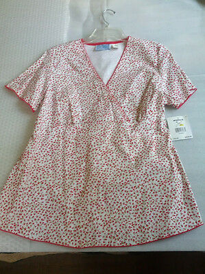 NWT Baby and Me Maternity Red White Flower Print Top Size S Small spring summer