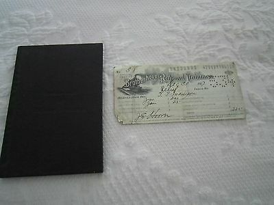 RARE 1917 Brotherhood of RR Trainmen SERIAL EXAMINATION BOOK & DUES RECEIPT