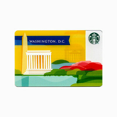 Lot of 5 Washington DC (2013) Monument Collectible Starbucks Gift Cards | #6086