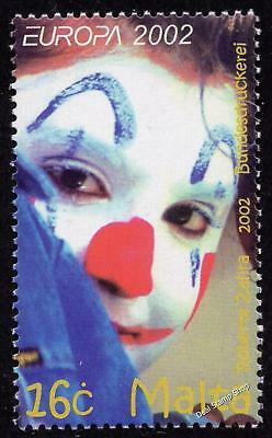 Malta 2002 Circus Clown - Europa Complete Set SG 1252 Unmounted Mint