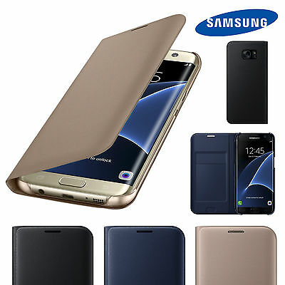 Luxury Genuine Leather Wallet/Flip Card Case Cover For Samsung Galaxy Phones