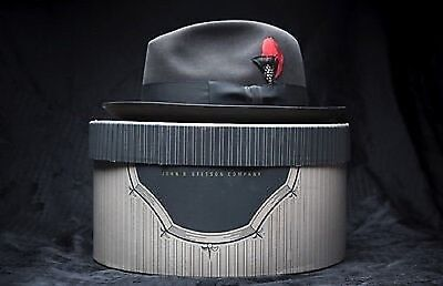 Amazing Vintage Royal Stetson Whippet fedora Size 7 3/8 Long Oval Hat - PERFECT