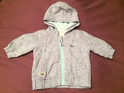 Next Baby Boys Nautical Themed Coat Size Up To 3 Months Immaculate