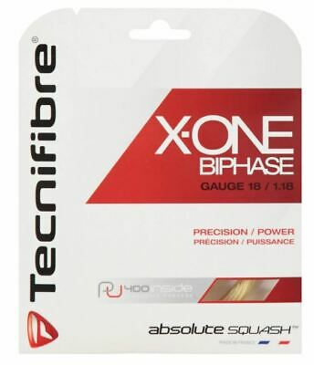 Tecnifibre X-ONE BIPHASE Squash String - 10m - Natural - 1.18mm - FREE UK P&P