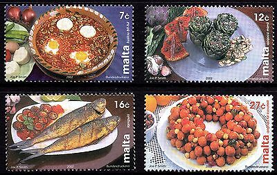Malta 2002 Maltese Cuisine / Cookery Complete Set SG1269 - 1272 Unmounted Mint