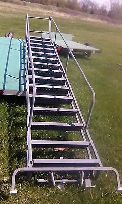 15 Step 12'  Warehouse Rolling Ladder, Heavy Duty Steps and Railings .No Base!
