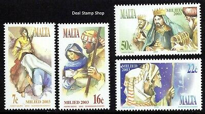 Malta 2003 Christmas Complete Set SG1340 - 1343 Unmounted Mint