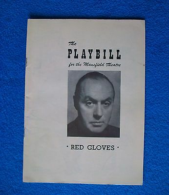 Two Playbills from1949: Red Gloves w Charles Boyer & Where's Charley? Ray Bolger