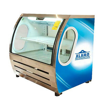 "Criotec 48"" Curved Glass Refrigerated Bakery Deli Meat Display Cold Case NEW!"