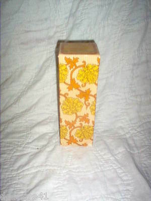 Avon Athena Bath Urn Decanter Original Box (1/4 Full) Field Flowers Bath Oil