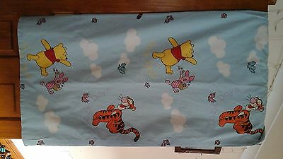 Winnie the Pooh & Friends Lined Blue Curtains & matching Tie backs 140cmx132cm