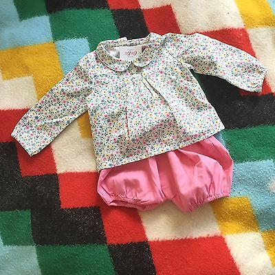 BNWT Baby Girls Cath Kidston Blouse And Bloomers Set 3-6 Months Summer Outfit