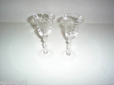 VINTAGE SET OF 2 WINE GLASSES by CAMBRIDGE CAPRICE #300 2.5 OZ REPLACEMENT
