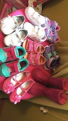 lot of kids shoes Size 6 And 7 And 1 Pink Boots Size 8