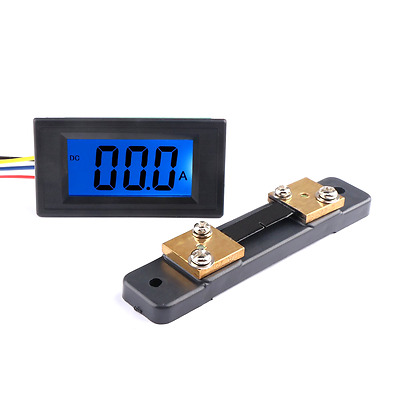 DROK Digital DC 12V Ammeter Panel Amp Meter Gauge DC 0-+/-50A Current Tester AC