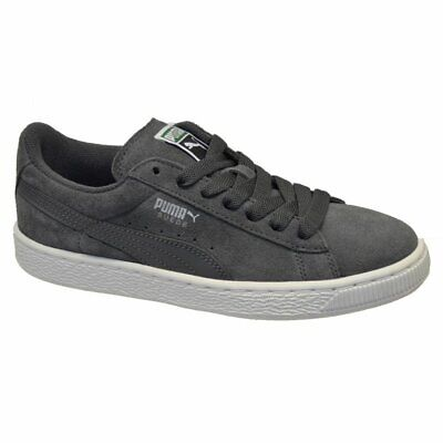 Womens Kids Girls Boys - Puma Suede Classic ECO NM Jr Suede Trainers - Grey Whit