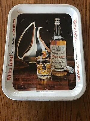 Dewar's White Label Tin Tray Vintage