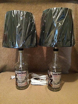 (2) Captain Morgan - Sherry Oak Limited Edition Rum Lamps - Brand New