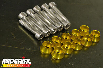 Z20 Rocker Cover FLARED CUP WASHERS - GOLD - VXR GSI SRI TURBO Z20LEH Z20LET