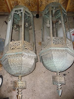Bronze Sconce Antique Architectural Building Light LAMP ART DECO SALVAGE Fixture