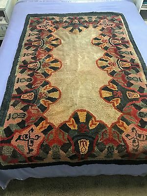 Antique Chinese Art Deco Carpet Rug 5' by 3'