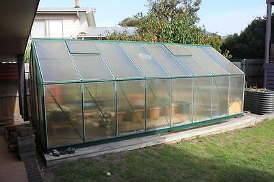 Walk In Greenhouse Green House Grow-Fresh 5.8m x 2.7m, 15 Tubs, Watering System