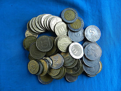 Lot of Current Israel Coins *104.91 ILS*