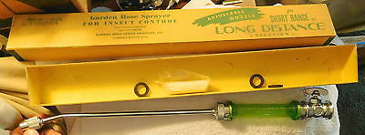 VINTAGE ARNOLD GARDEN HOSE SPRAYER Spray FOR INSECT CONTROL Green Cambridge MA