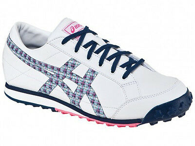 New Asics Matchplay Classic Ladies Golf Shoes White/navy