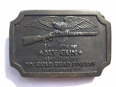 I will give up MY GUN when...Belt Buckle - Second Amendment-Right to Bear Arms