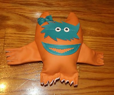 SALMON/TEAL Nauga Monster The American Classic Naugahyde Promotional Toy girl