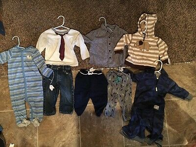 8 Piece Baby Boy 6-12 Month Clothes  Carter Old Navy