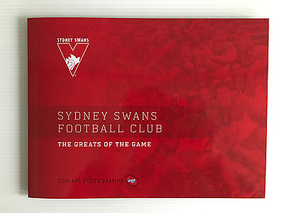 Brand New Mint Condition Sydney Swans AFL Collector 2017 Souvenir Stamp Folder