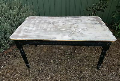 Vintage wooden  Dining Table farmhouse kitchen table
