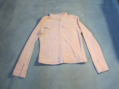 Juicy Couture Womens Size Large Jacket Light Pink Full Zip Long Sleeve Cotton