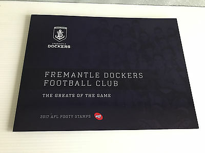 Brand New Mint Condition Fremantle Dockers Collector 2017 Souvenir Stamp Folder